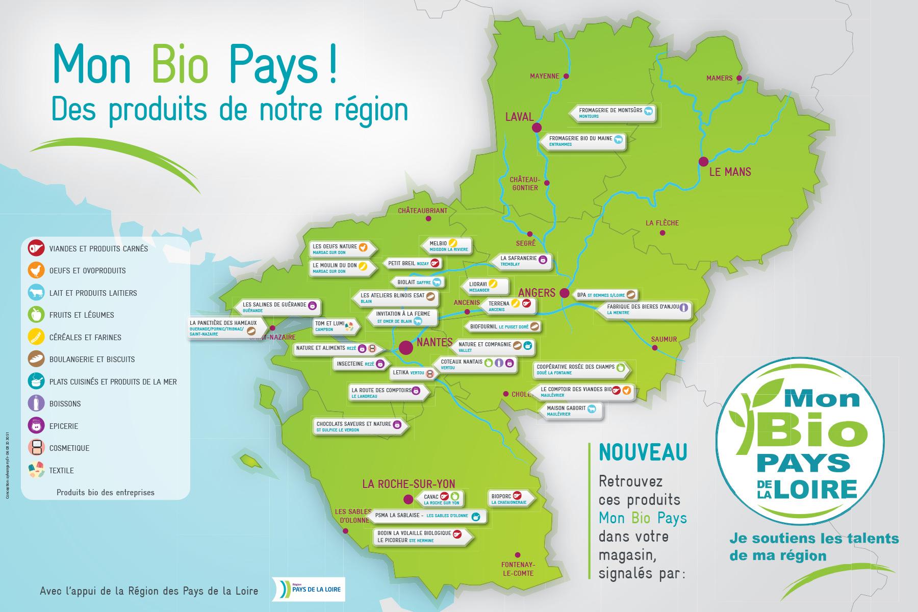 Carte régionale Mon Bio Pays